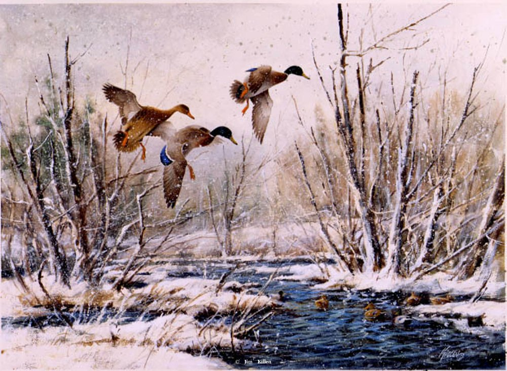 Waterfowl hunting painting
